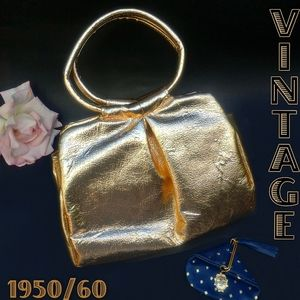 "Vintage Gold metallic ""foil"" handbag"